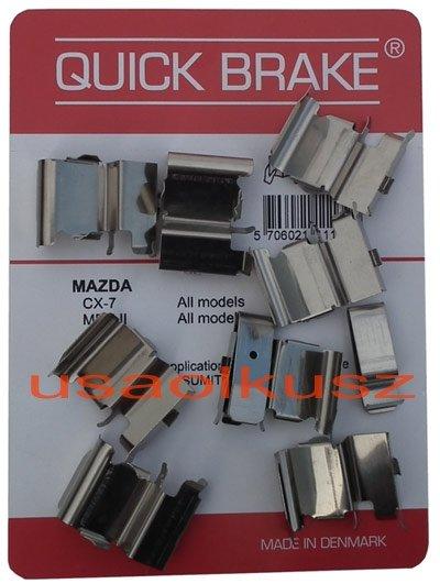Zestaw montażowy przednich klocków hamulcowych Mazda CX-9 CX9