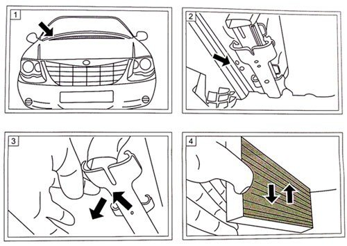 Filtr kabinowy przeciwpyłkowy ULTRA PURE Chrysler Pacifica -2008