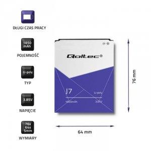 Bateria Qoltec do Samsung Galaxy J7   1850mAh