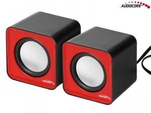 Głośniki Audiocore AC870 R komputerowe 6W USB Red&Black