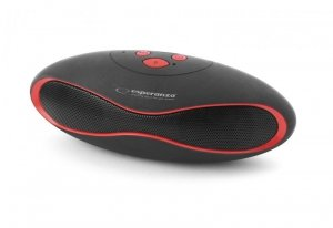 Głośnik Bluetooth Esperanza Trival czarno-czerwony