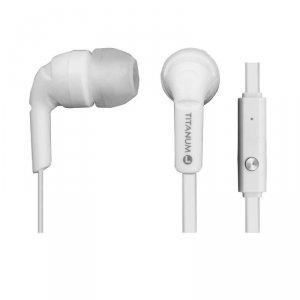 Słuchawki z mikrofonem Titanium TH109W douszne białe