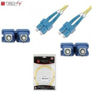 Światłowód krosowy TechlyPro SC-SC duplex 9/125 OS2, SM 1m