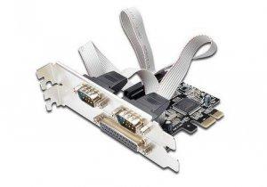 Kontroler COM+LPT DIGITUS PCIe, 2x RS-232/COM, 1x Parallel/LPT, Low Profile, Chipset AX99100