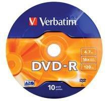 DVD-R Verbatim 4.7GB X16 Matt Silver (Spindle 10)