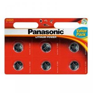 Panasonic bateria litowa CR2025 - 6szt blister