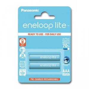 Panasonic Eneloop Lite R03/AAA 550mAh akumulatory – 2 szt blister