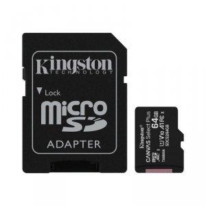 Kingston karta pamięci microSDXC Canvas Select Plus (64GB   class 10   UHS-I   100 MB/s) + adapter