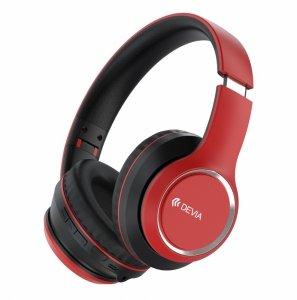 Devia słuchawki Bluetooth Kintone nauszne czerwone