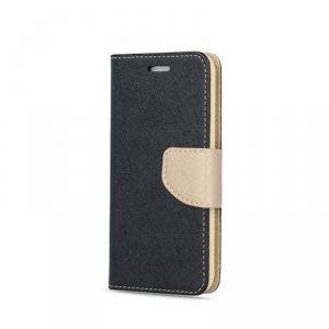 Etui Smart Fancy do Samsung A42 5G czarno-złoty