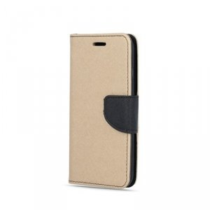Etui Smart Fancy do Samsung Galaxy A42 5G złoto-czarny