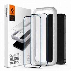 Spigen szkło hartowane ALM Glass FC do iPhone 12 Pro Max czarna ramka 2 szt