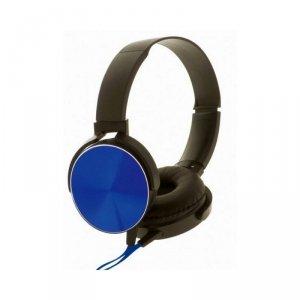 Rebeltec słuchawki przewodowe Montana nauszne stereo z mikrofonem niebieskie