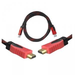 Kabel HDMI-HDMI 1,5m czerwony v1.4 blis