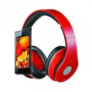 Rebeltec słuchawki przewodowe AUDIOFEEL2 nauszne czerwone