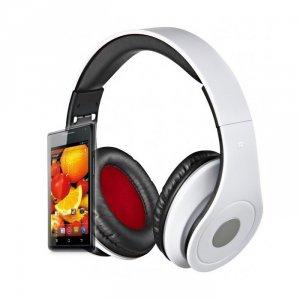 Rebeltec słuchawki przewodowe AUDIOFEEL2 nauszne białe