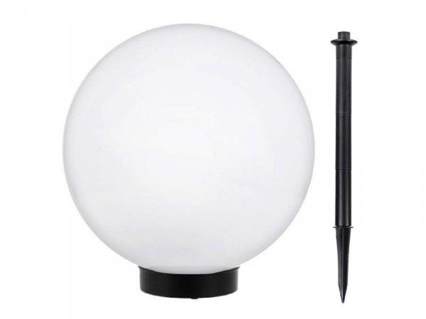 Lampa solarna GreenBlue GB168 wolnostojaca ogrodowa kula 30x30x63 cm, bialy LED