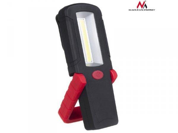 Lampa warsztatowa COB LED Maclean MCE221 magnes, hak 3xAAA