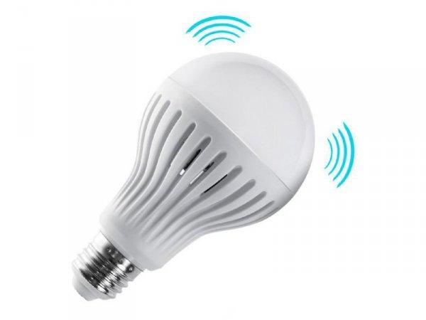 Żarówka LED E27 Maclean MCE177 CW 9W 230V zimy biały mikrofalowy czujnik ruchu i zmierzchu