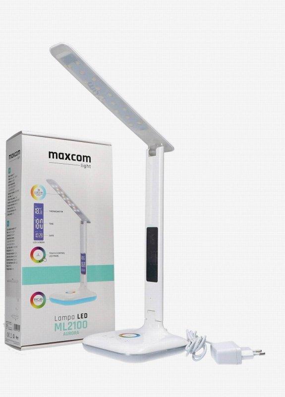 Lampka biurkowa MaxCom ML2100 Aurora, biała
