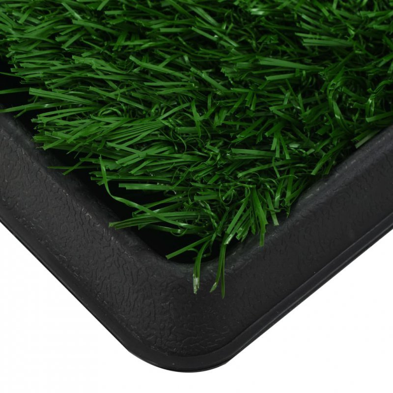 Toaleta dla zwierząt z tacą i sztuczną trawą, zieleń, 64x51x3cm