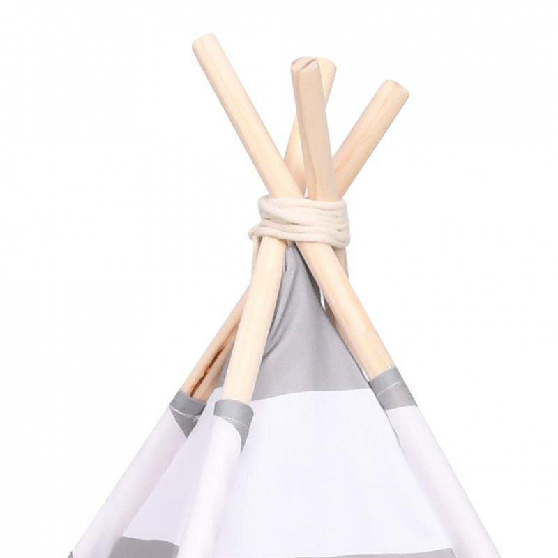 Namiot tipi dla kota, z torbą, peach skin, w paski, 60x60x70 cm