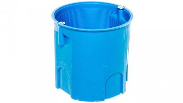 Puszka podtynkowa 60mm głęboka z wkrętami niebieska Z60Dw 34035203 /50szt./