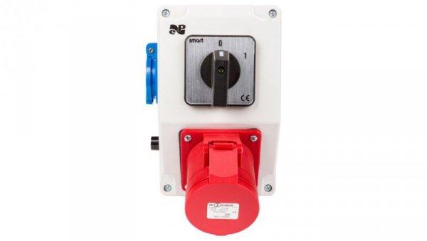 Zestaw instalacyjny z gniazdem 32A 4P+2P+Z RS-Z (0-1) czerwony 6281-00