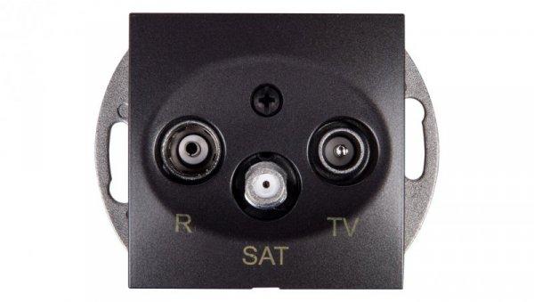 Simon 54 Gniazdo antenowe RD/TV/SAT przelotowe antracyt DASP.01/48