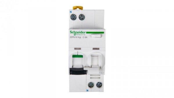 Wyłącznik różnicowo-nadprądowy 2P 6A C 0,03A typ AC iDPN N VIGI A9D31606