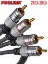 Kabel RCA PROLINK EXCLUSIVE 3m 2RCA pozłacane