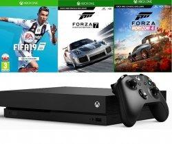 Konsola MICROSOFT Xbox One X + Forza Horizon 4 + Forza Motorsport 7 + FIFA 19