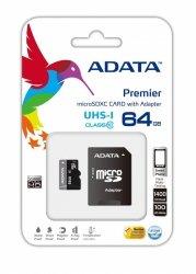 Karta ADATA Premier MicroSDXC 64 GB Class 10 UHS-I/U1