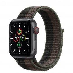 Apple Watch SE 40mm GPS + Cellular Aluminium w kolorze gwiezdnej szarości z opaską sportową w kolorze tornada/szarym