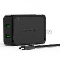 Ładowarka sieciowa Tronsmart WC2F QC2.0 2x USB (kolor czarny)