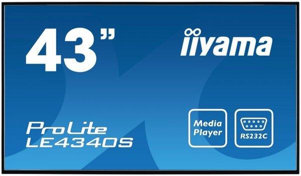 Monitor IIYAMA 43 LE4340S-B1 AMVA3 FullHD USB Media Player