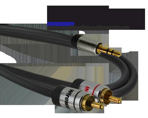 Kabel Jack-2RCA Wireway 1m Audio