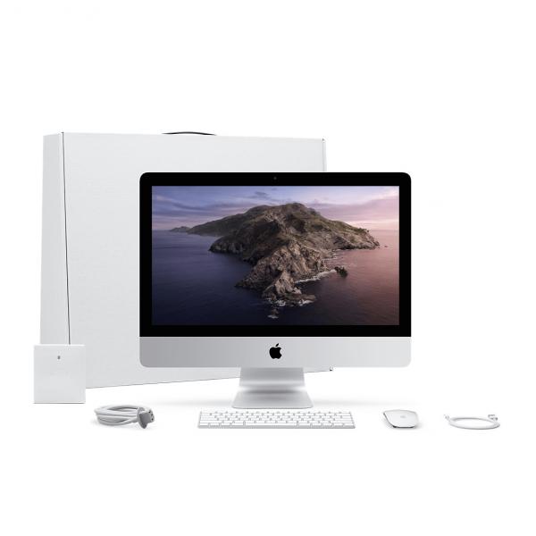 iMac 21,5 / i5 2,3GHz / 8GB / 1TB Fusion Drive / Iris Plus Graphics 640 / Gigabit Ethernet / macOS / Silver (srebrny) MHK03ZE/A/D1 - nowy model