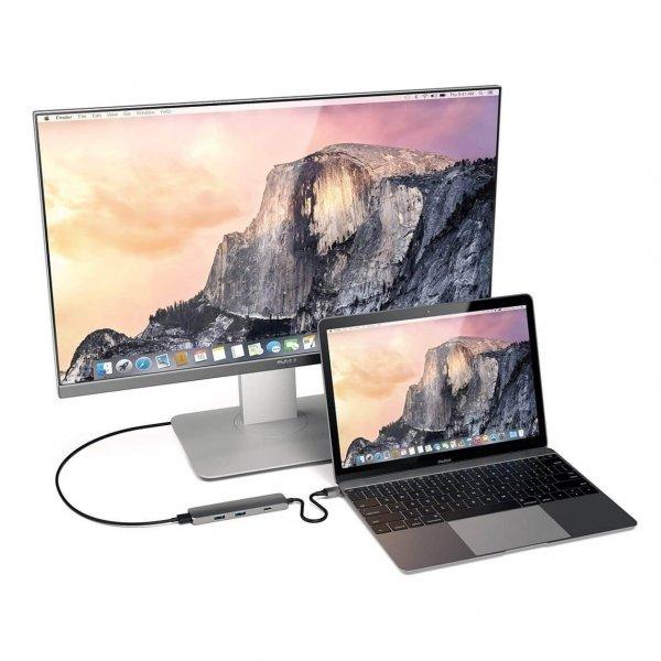 Satechi USB-C Slim Multiport HUB - 2xUSB 3.0 / HDMI / USB-C (PD) / Space Gray (gwiezdna szarość)