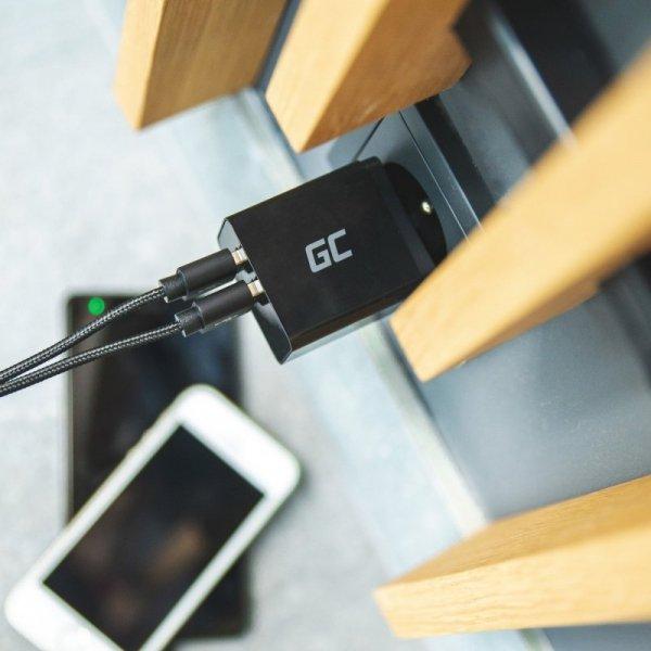 Ładowarka sieciowa Green Cell 2xUSB 18W z szybkim ładowaniem Smart Charging