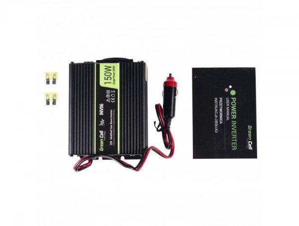 Przetwornica Napięcia Green Cell ® 12V do 230V, 150W/300W