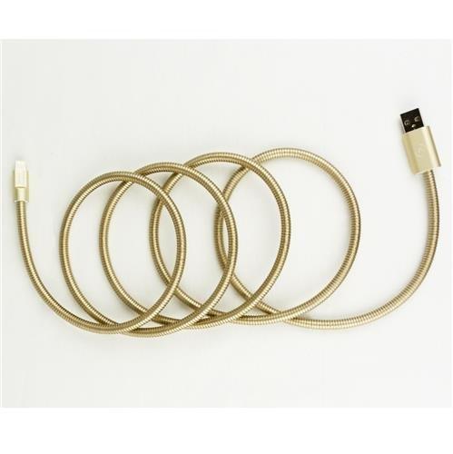 Fuse Chicken Titan GOLD- stalowy, dwuwarstwowy kabel Lightning (150cm)