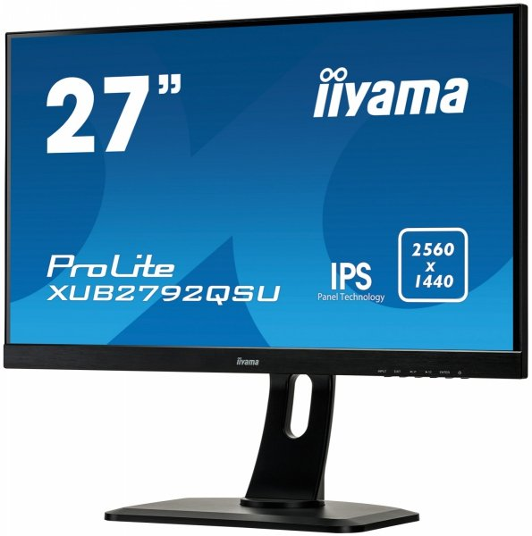 "IIYAMA XUB2792QSU-B1 27"" QHD IPS HDMI PIVOT ULTRA SLIM"