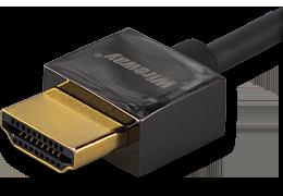 Kabel HDMI Wireway 2.0 Slim 1m pozłacany