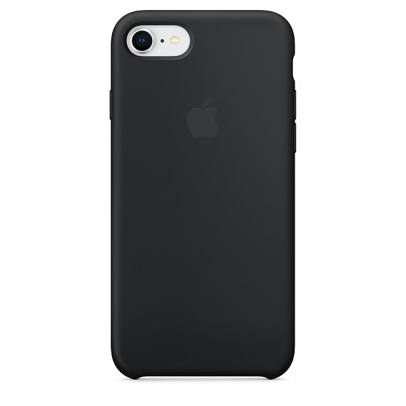 Apple Silicon Case Etui do iPhone 7/8 Black (czarny)