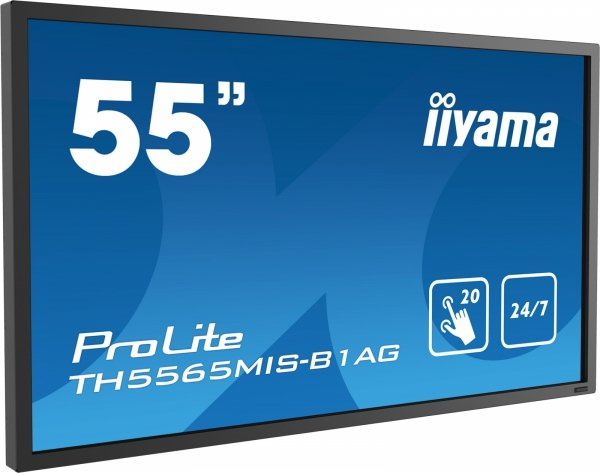 Monitor IIYAMA 55 TH5565MIS-B1AG IPS multi-touch DAISY CHAIN Support 24/7