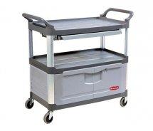 Wózek X-tra™ z szufladą i szafką gray