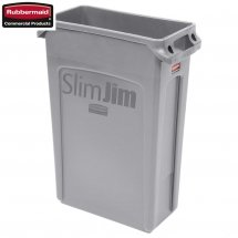 Kosz Slim Jim® With Venting 87L Grey