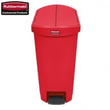 Kosz Slim Jim® Step-On 50L Resin Containers End Step Style red