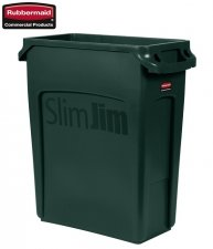 Kosz Slim Jim® With Venting 60L Green